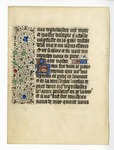 Book of Hours, 1435, Recto