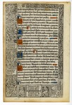 Book of Hours, 1500, Recto
