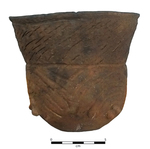 Caddo Carinated Jar 102A by Caddo Native American Tribe and Dr. Jeffrey Girard