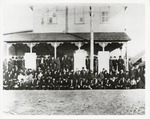 A Gathering of Confederate Veterans and Friends in front of the Opera House-N. Bonner Street by Jack Ritchie