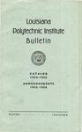 1954-1955 Louisiana Polytechnic Institute Catalog