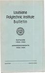 1952-1953 Louisiana Polytechnic Institute Catalog
