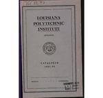 1937-1938 Louisiana Polytechnic Institute Catalogue